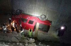 [Galería] Cae en un puente de 4 metros que está en construcción