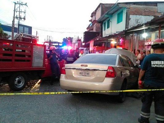 Carambolazo deja siete vehículos dañados