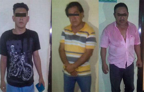Detienen a tres sujetos acusado de robo