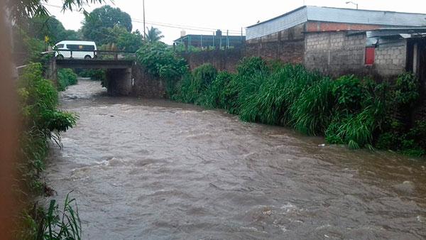 Lluvias fuertes se han registrado en la zona alta de Tapachula