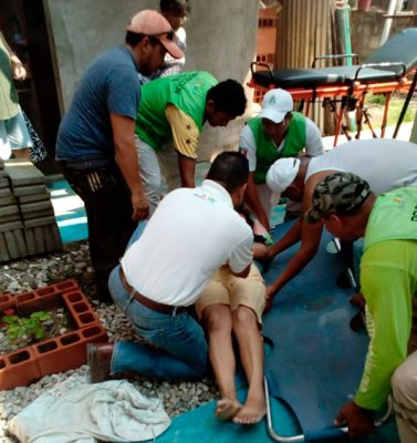 Mujer cae de segundo piso en Acapetahua