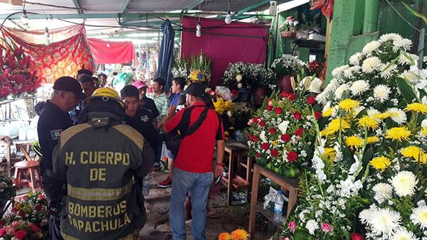 Temen incendio en el Tianguis Tapachula