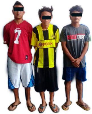 Detienen a tres presuntos integrantes de la banda Barrio 18