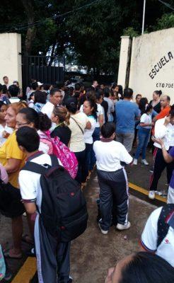 Se suspenden clases ante la llegada de Caravana de Migrantes en la federal 4