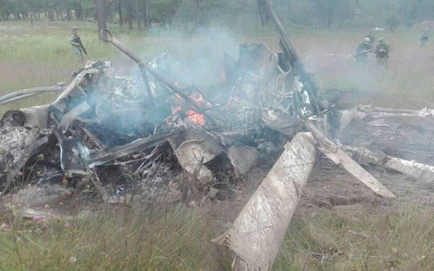 Mueren 7 militares tras desplomarse helicóptero en Durango