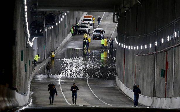 La obra magna de Mancera se inunda a la primera lluvia