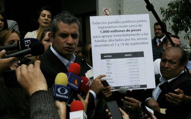 PRI formaliza su renuncia al 100% del financiamiento público