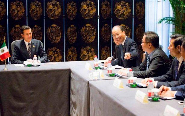 Peña Nieto resalta inicio de operaciones del banco chino ICBC en México