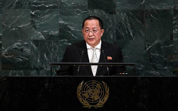 Canciller norcoreano tacha de trastornado a Trump