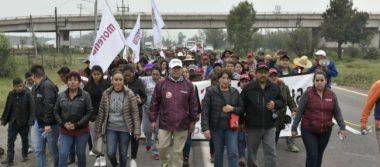 Delfina Gómez reinicia Marcha de la Esperanza del NAICM hacia San Lázaro