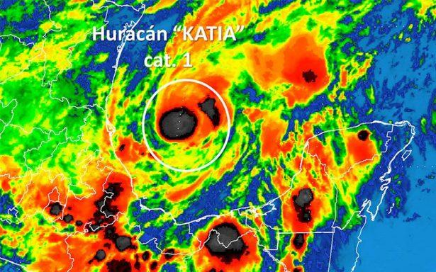 Piden a población mantenerse atenta ante trayectoria del huracán Katia