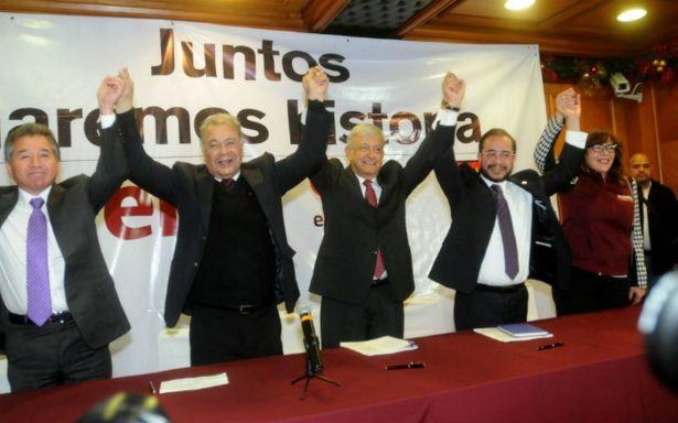 'Haremos historia', Morena, PT y PES firman convenio de coalición