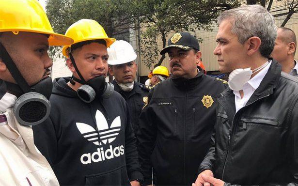 Mancera no dejará la CDMX hasta que emergencia por sismo termine
