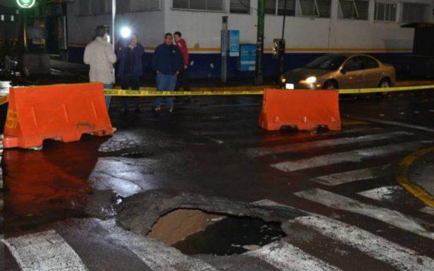 Otro socavón en la CDMX, ahora en la Benito Juárez