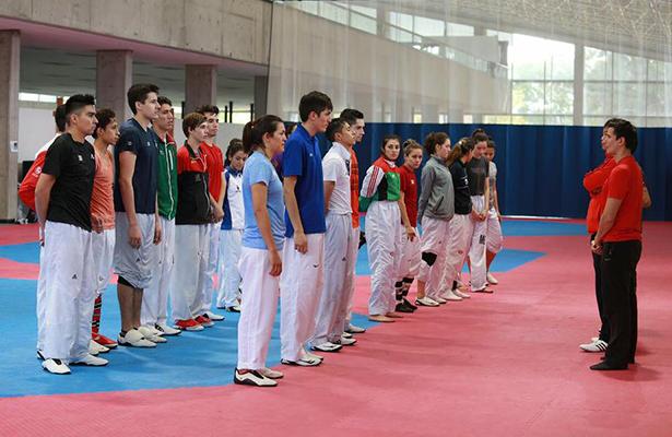 LA SELECCIÓN Mexicana de Taekwondo ya se encuentra trabajando en el CNAR, preparándose para lo que será el US Open que disputarán a finales de mes en Las Vegas, Nevada. Foto: Conade