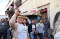 AL PASO de la marcha, los estudiantes gritaban algunas consignas.Fotos: Adrián Donantonio