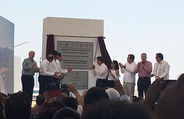 EPN inaugura el Macrolibramiento Centenario de la Constitución