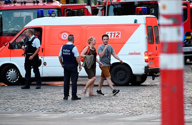 Explosión en la estación central de Bruselas