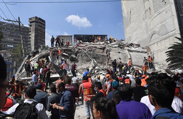 224 muertos; devastador terremoto, otra vez en 19 de septiembre