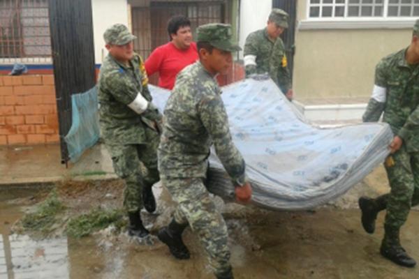 Aplican Plan DN-III-E en zonas afectadas de Oaxaca