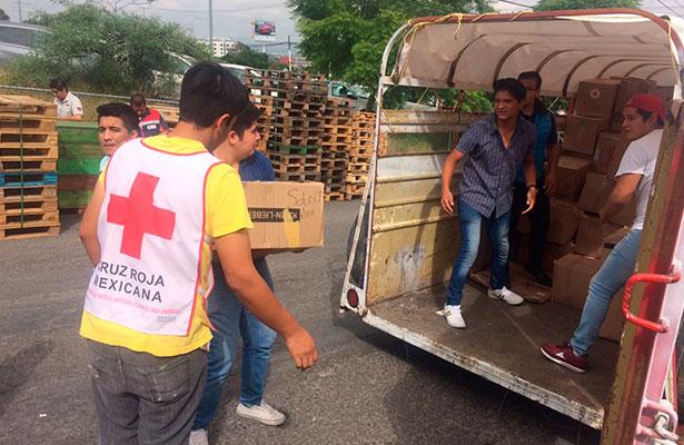 Envía Cruz Roja Querétaro material de curación a CDMX