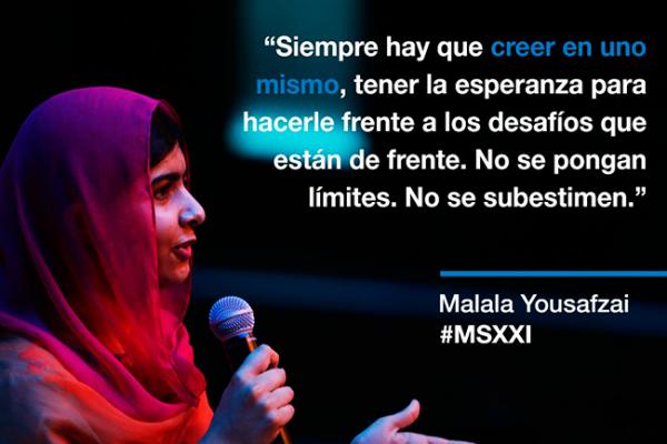 """""""¿Por qué nos hemos dividido?"""", dice Malala sobre muro fronterizo"""