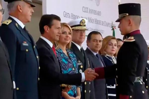 Peña Nieto conmemora aniversario de los Niños Héroes