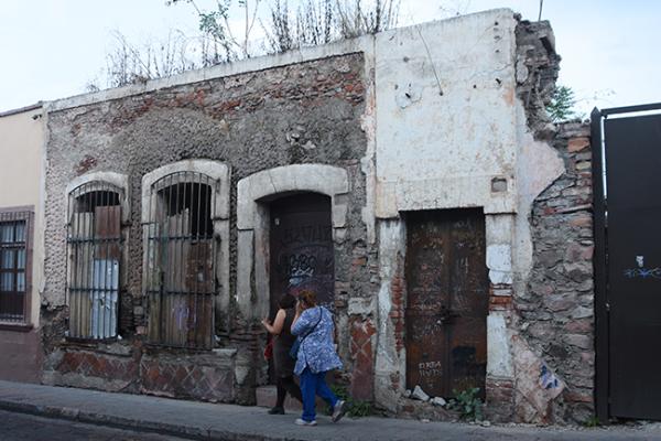Hacen catálogo de las casas en ruinas del CH
