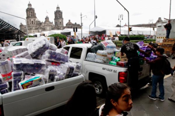 Fuerzas Armadas entregarán los víveres a damnificados por sismo