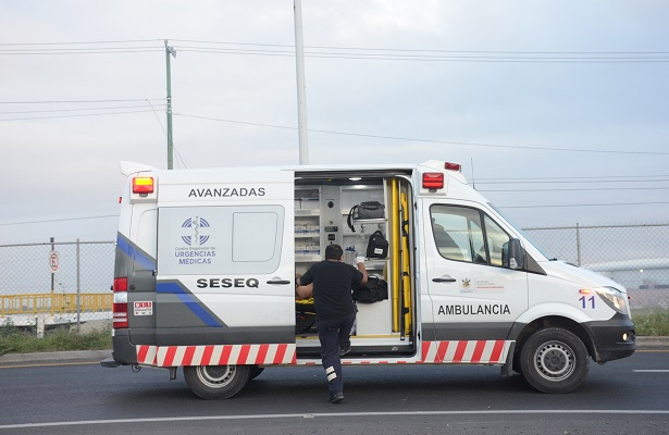 CRUM auxilió a motociclista herido