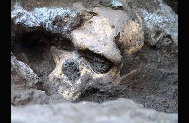 Cráneo género 'Homo' temprano de Dmanisi en el lugar donde fue hallado Foto: Museo Nacional de Georgia y Universidad de Zurich