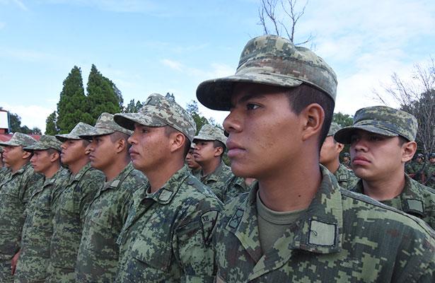 Zona Militar recibe a 107 jóvenes conscriptos