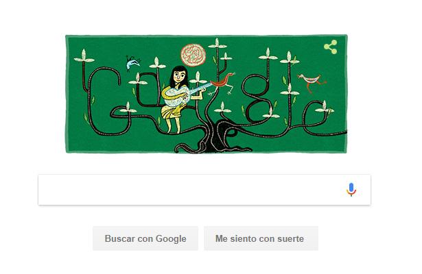 Google recuerda a Violeta Parra