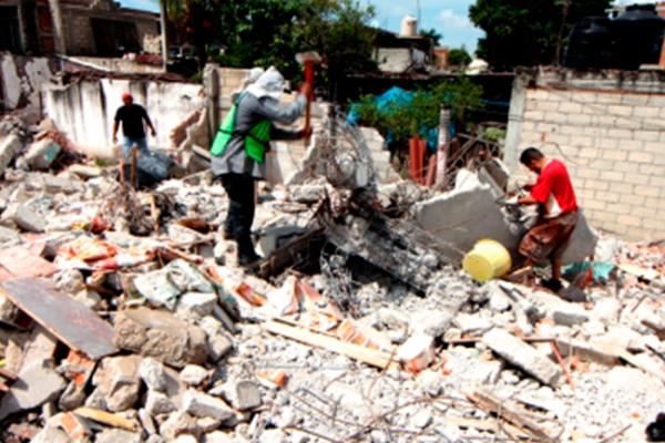 Termina rescate de cuerpos; inicia retiro de escombros