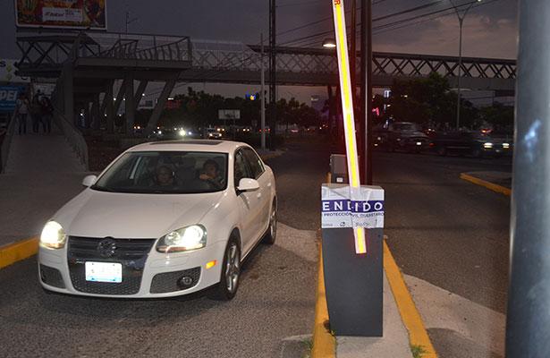 Suspenden estacionamiento