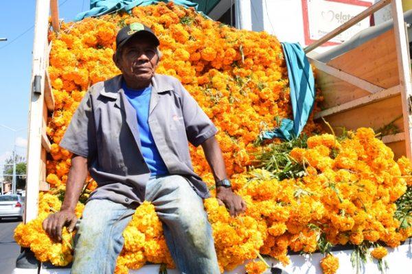 Viven del recuerdo; Floristas llegan al mejor día del año