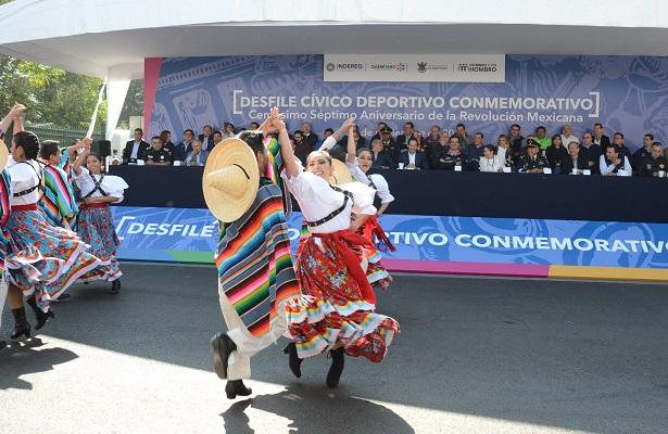 Conmemoran 107 años de la Revolución Mexicana