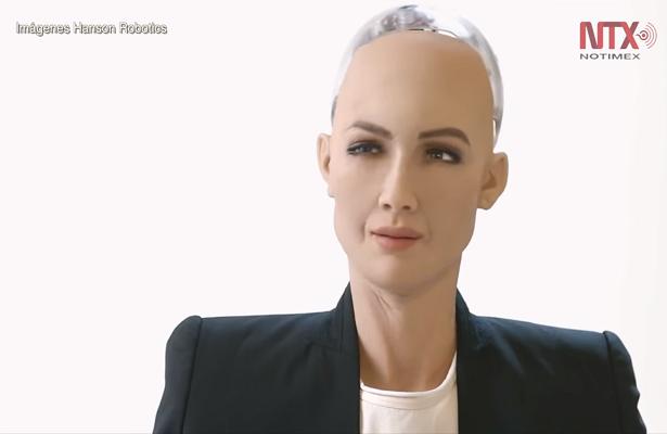 Sophia, la robot ciudadana de Arabia estará en México