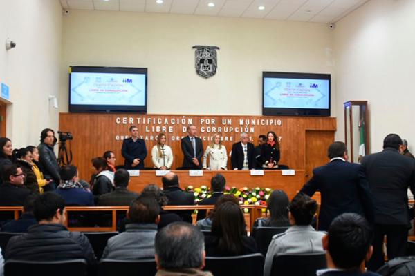 Certifican a El Marqués como municipio Libre de Corrupción