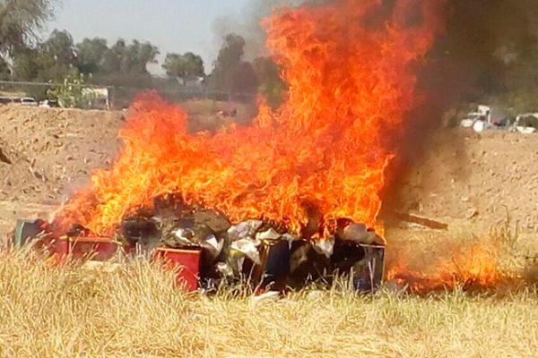 PGR realiza incineración de narcóticos