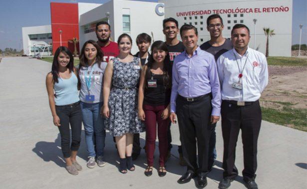 Peña Nieto visita primera universidad bilingüe del país para grabar spot