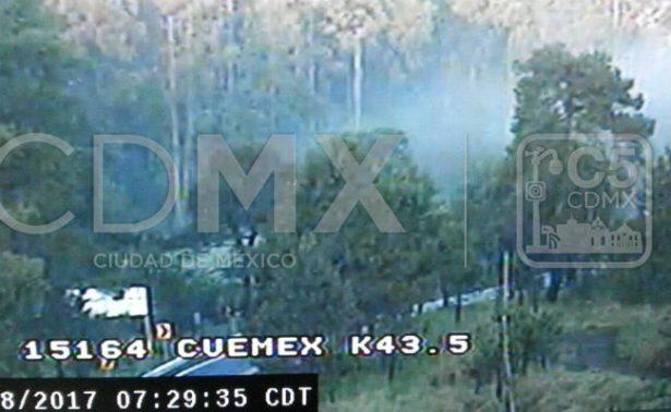 Banco de niebla afecta la México-Cuernavaca