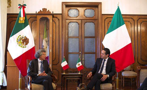 Reconoce Pancho Domínguez cooperación del país italiano