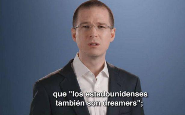 Anaya pide a Trump proteger a dreamers; afirma que seguridad fronteriza no depende de un muro