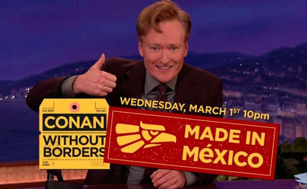 Diego Luna y Vicente Fox, los invitados de Conan O'Brien