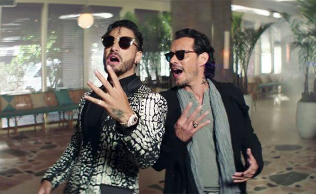 """Maluma y Marc Anthony cantan en salsa historia de """"Felices los 4"""""""