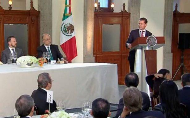 México seguirá con posición firme en renegociación del TLCAN: Peña Nieto