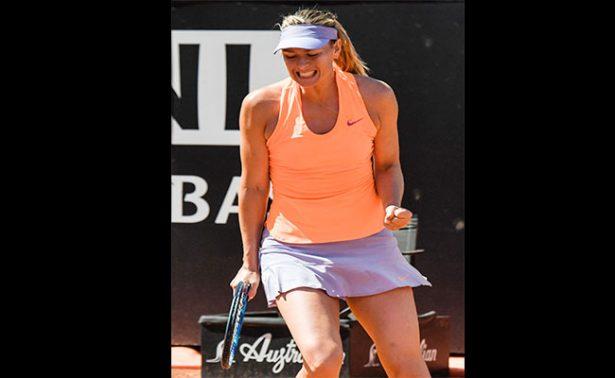 María Sharapova avanza en el Torneo de Roma