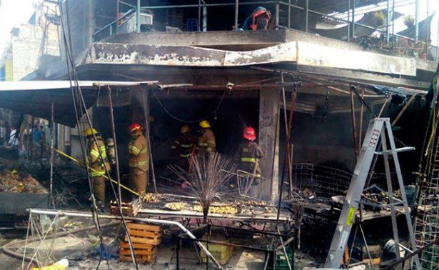 Reportan explosión por pólvora en Mercado Hidalgo
