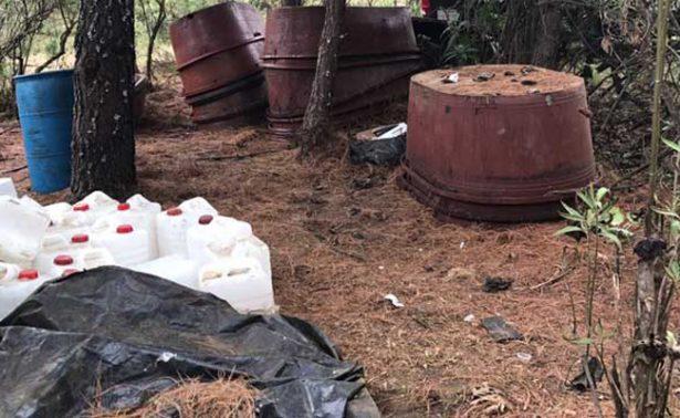 Destruyen laboratorios clandestinos  en Michoacán
